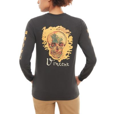 Vans X Van Gogh Museum Skull Long Sleeve T Shirt by Vans