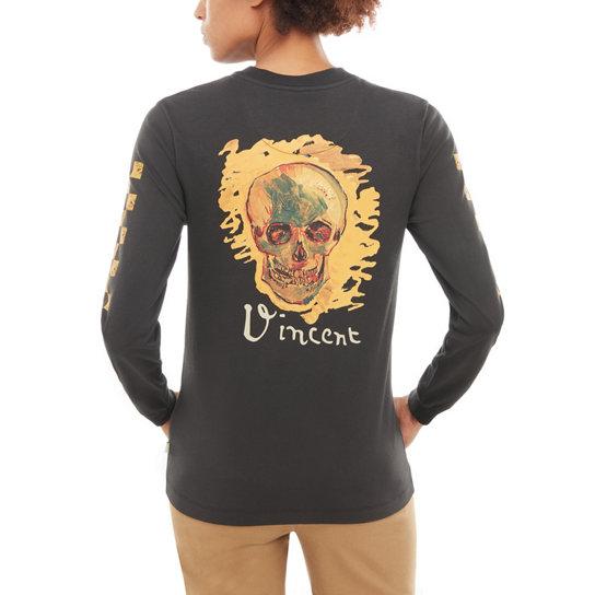 702d2c54286792 T-shirt maniche lunghe Vans x Van Gogh Museum Skull | Nero | Vans