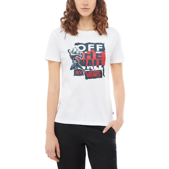 Vans X Marvel Captain Marvel Basic T-Shirt mit Rundhalsausschnitt