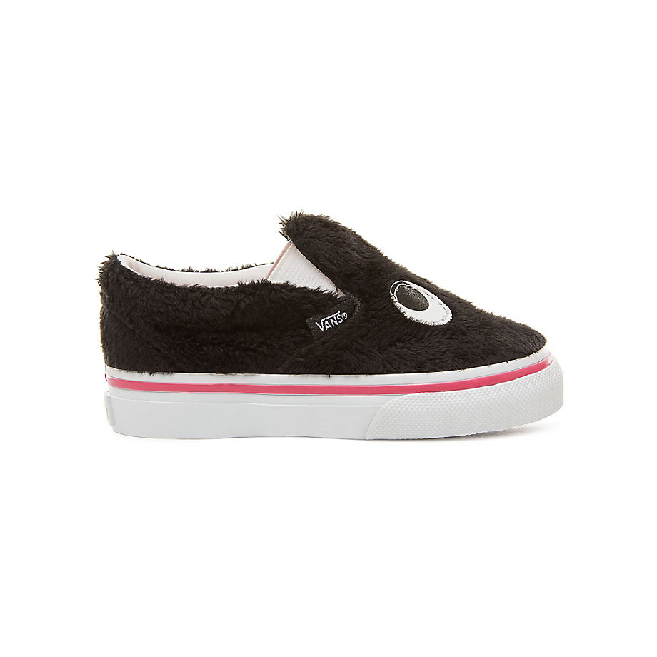 782419019f VANS Toddler Party Fur Slip-on Friend Shoes (0-3 Years) ((party Fur)  Black true White) Kids Black - £33.00 - Bullring   Grand Central