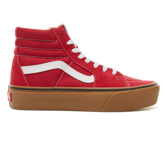 4dfa7a00469 Suede Gum Sk8-Hi Platform 2.0 Shoes | Red | Vans