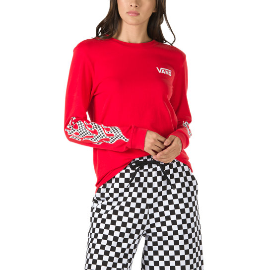 Flame Check Long Sleeve T-Shirt | Vans