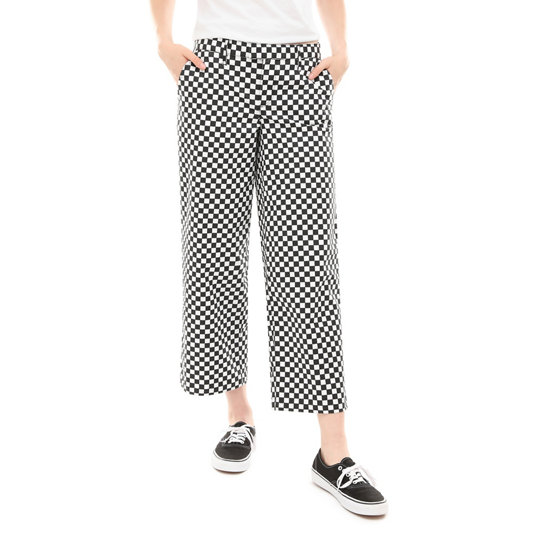 Checkerboard Authentic Wide Leg Trousers | Vans