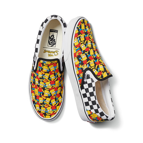 The+Simpsons+x+Vans+Slip-On+Personnalis%C3%A9es