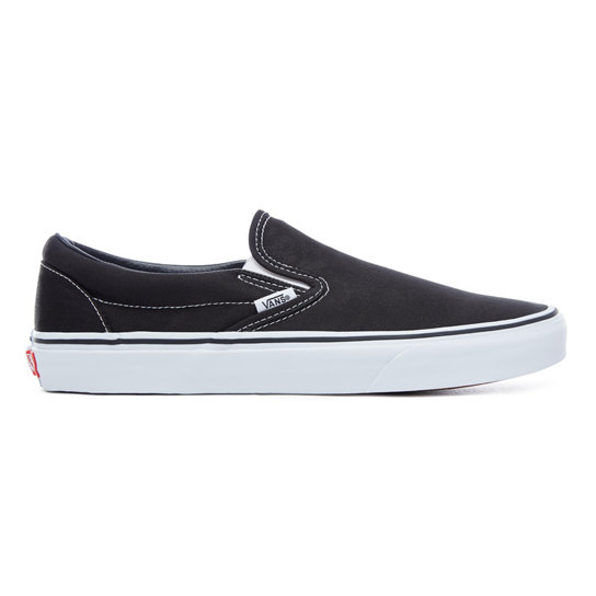 vans black slip on