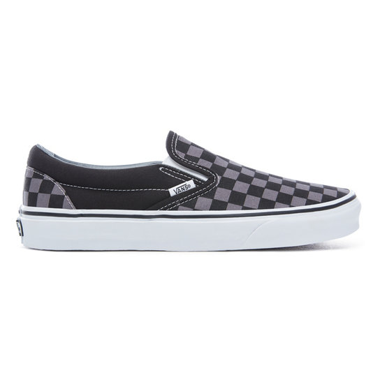 black checkered slip on vans