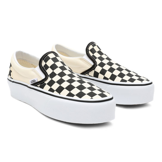 0a309d77e47e8d Checkerboard Classic Slip-On Platform Shoes