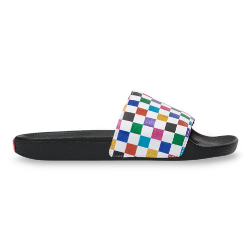 Glitter+Rainbow+Slide-On+Sandalen