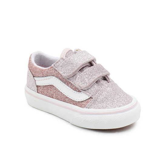 Chaussures 2-Tone Glitter Old Skool Velcro Bébé (1-4 ans)