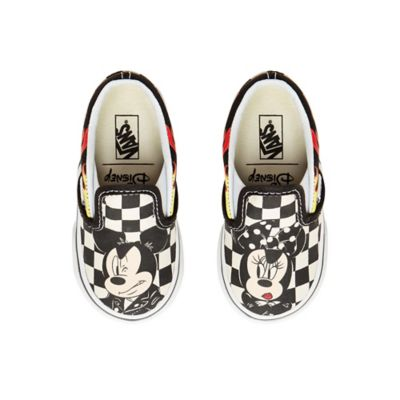 d4683b9c0af Disney X Vans Classic Slip-on Schoenen voor baby's en peuters (1-4 jaar) |  Checkerboard | Vans