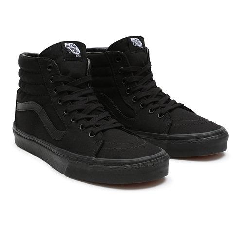 scarpe vans alte nere e bianche