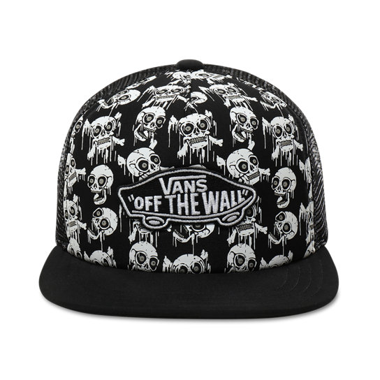 Kids Glow-in-the-dark Skulls Classic Patch Trucker Plus Hat (8-14+ years) | Vans