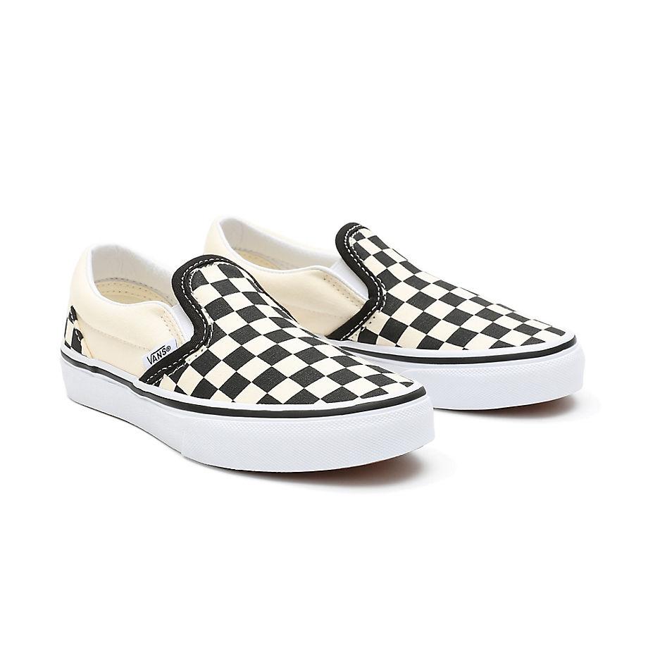 Chaussures Junior Checkerboard Classic Slip-on (4-8 Ans) ((checkerboard) Black/white) Enfant , Taille 32 - Vans - Modalova