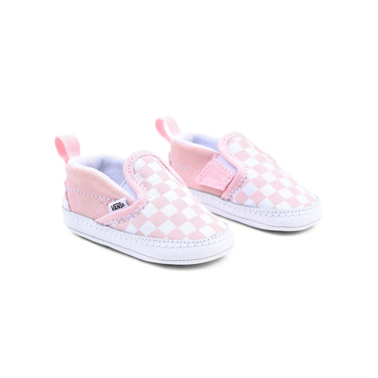 Infant Checkerboard Slip-On V Crib Shoes (0-1 year) | Vans