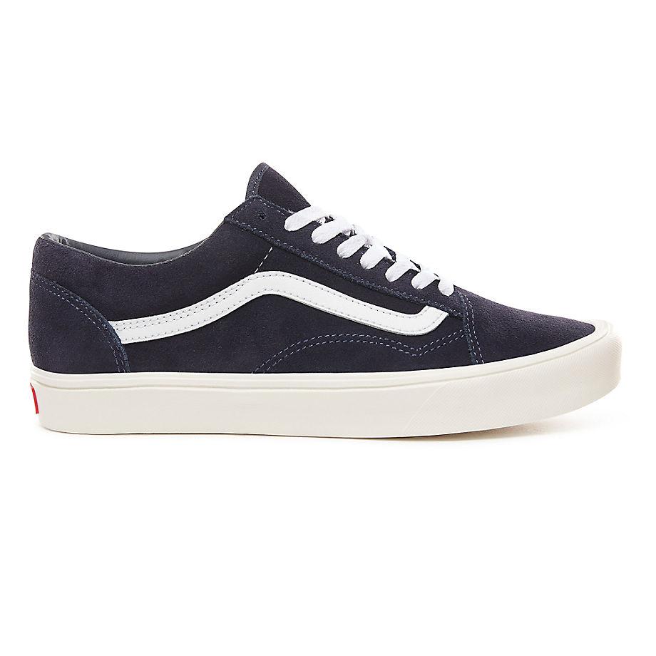VANS Suede Old Skool Lite Shoes ((suede) Sky Captain/marshmallow) Men Blue, Size 2.5