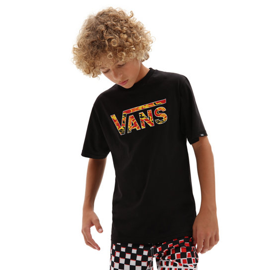 T-shirt Vans Classic Logo Fill Garçon (8-14 ans)   Noir   Vans