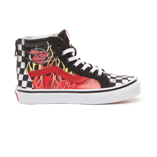 Kids Race Flame Sk8-hi Zip Shoes (4-8 years) | Vans