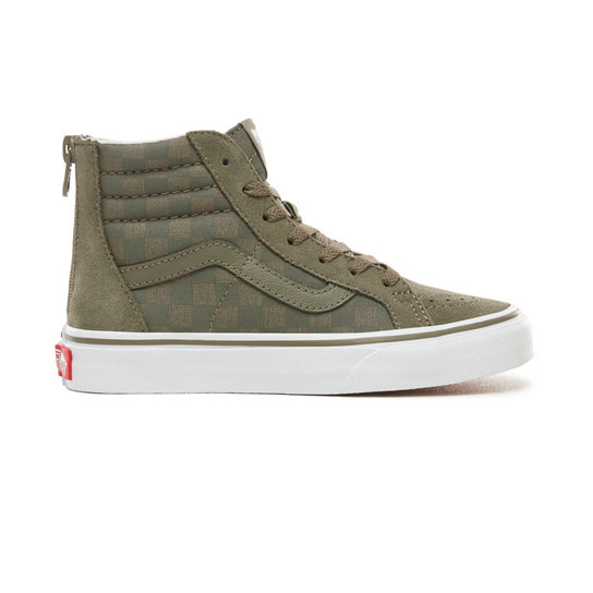 Kids Checkerboard Sk8-Hi Zip Shoes (5+ years) | Vans