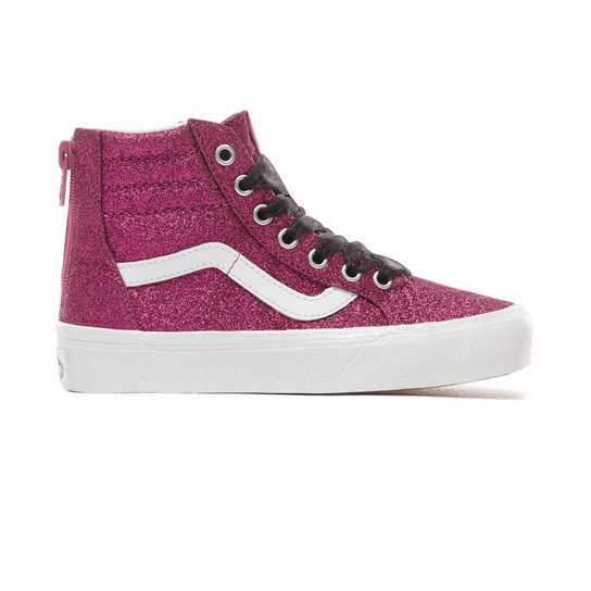 Kids Glitter Sk8-Hi Zip Shoes (5+ years) | Vans