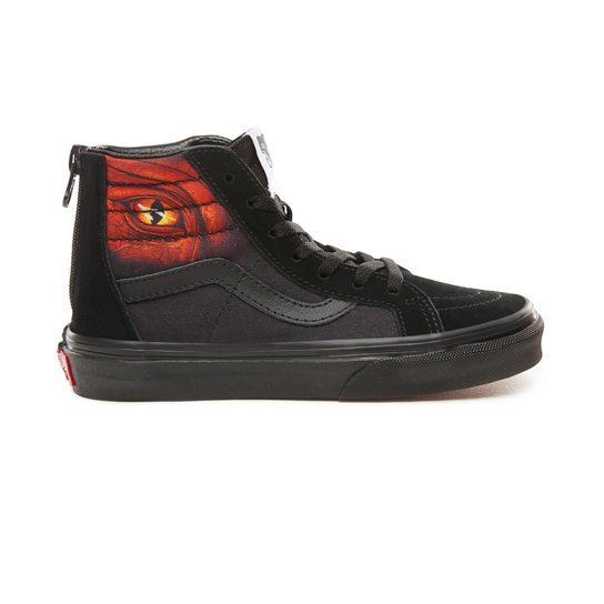 Kids Dragon Flame Sk8-Hi Zip Shoes (4-8 years) | Vans