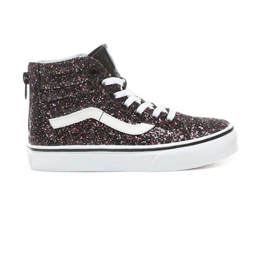 Kids Glitter Stars Sk8-Hi Zip Shoes (5+ years) | Vans