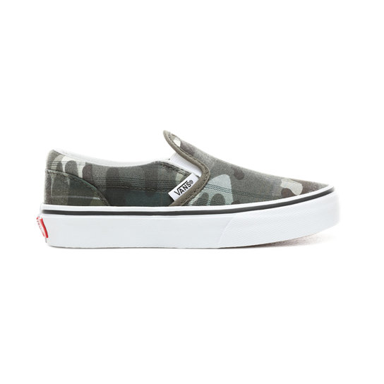 Kids Plaid Camo Classic Slip-On Shoes (5+ years) | Vans