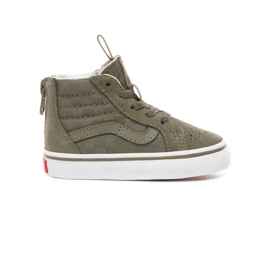 Toddler Checkerboard Sk8-Hi Zip Shoes (1-4 years) | Vans