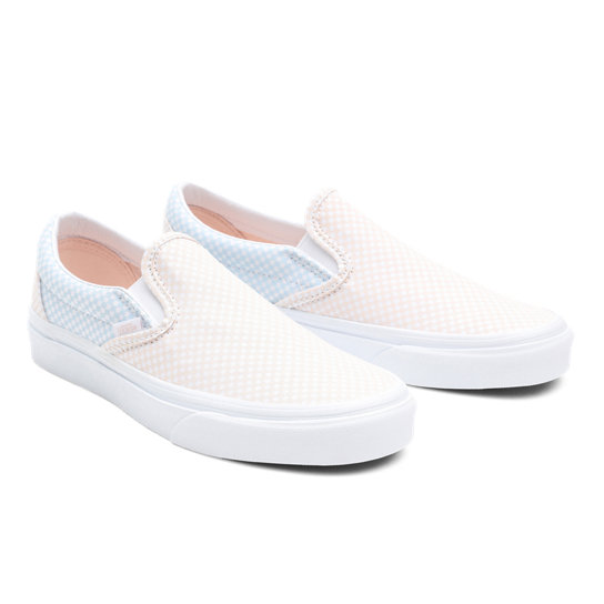 Pastel Checkerboard Classic Slip-On Shoes | Vans