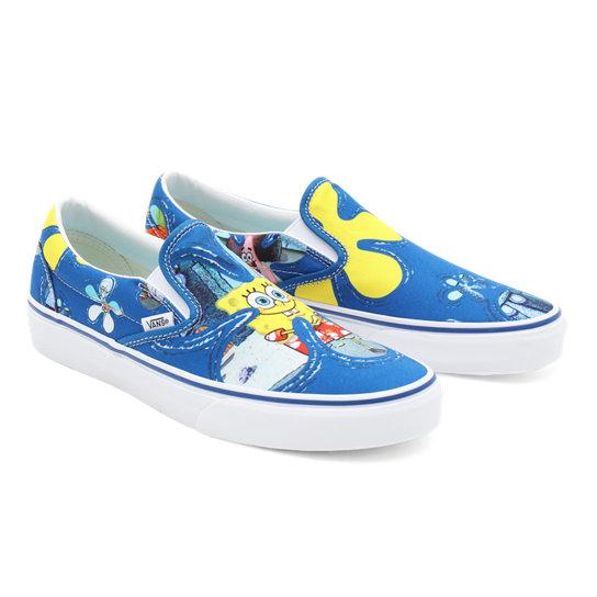 Vans X SpongeBob Classic Slip-On Shoes   Black   Vans