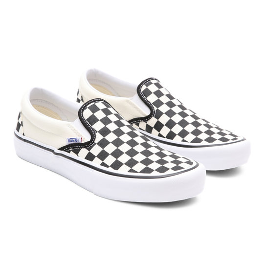Checkerboard Slip On Pro Shoes | Black | Vans