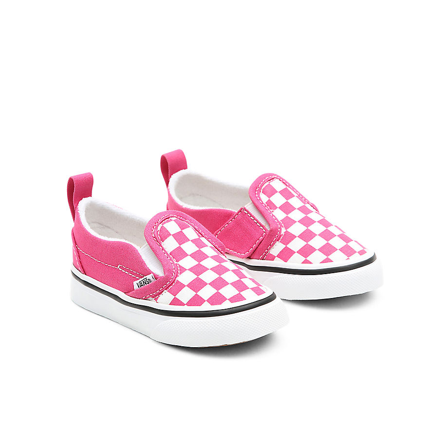 VANS Chaussures Checkerboard Classic Slip-on V Bébé (1-4 Ans) ((checkerboard) Fuchsia Purple/true White) Toddler Rose, Taille 18.5