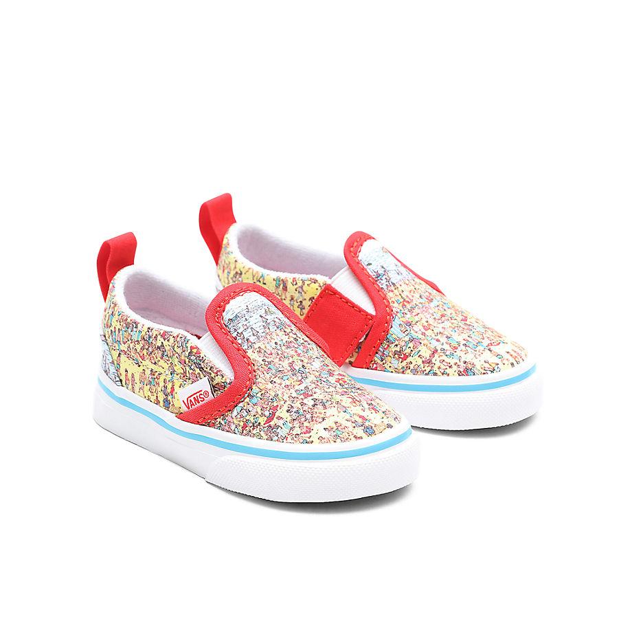 VANS Chaussures Bébé Vans X Où Est Charlie? Slip-on V (1-4 Ans) ((where's Waldo?) Find Steve/beach) Toddler Multicolour, Taille 26