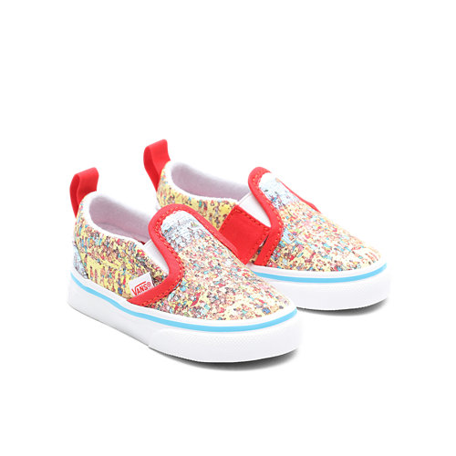 Vans+x+Waar+is+Wally%3F+Slip-On+V+Peuterschoenen+%281-4+jaar%29