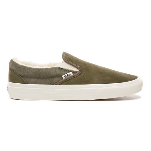 Suede+and+Sherpa+Classic+Slip-On+Shoes