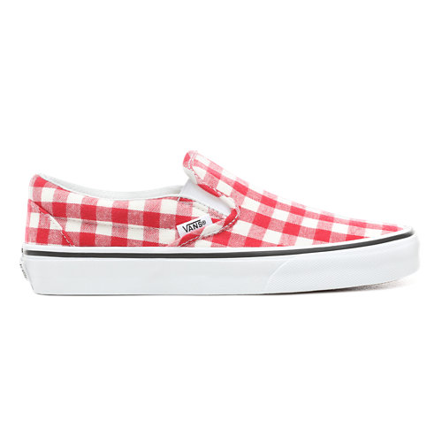 Gingham+Slip-On+Shoes