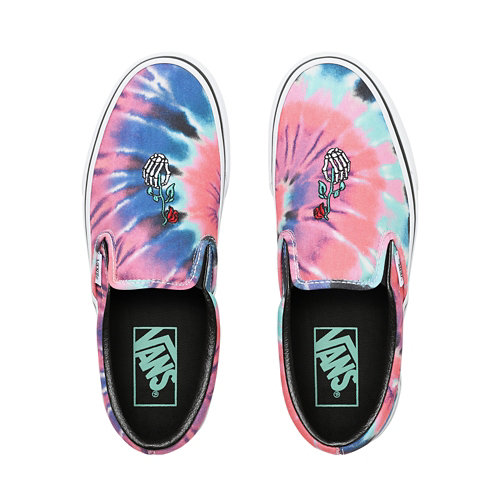 Tie+Dye+Slip-On+Shoes