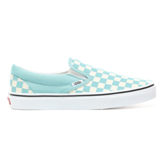 0f5ed6866a03 Checkerboard Slip-On Shoes | Blue | Vans