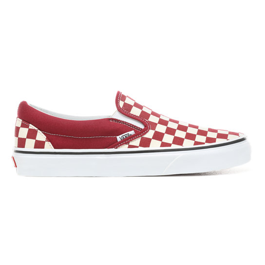 On Vans Checkerboard Rojo Zapatillas Slip YAcfqyyE