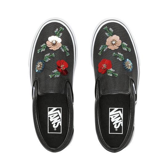 530328e481a0 Floral Sequins Slip-On Shoes | Black | Vans