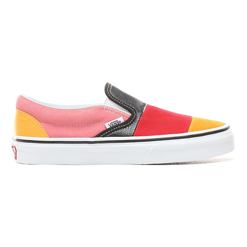 Patchwork+Slip-On+Shoes