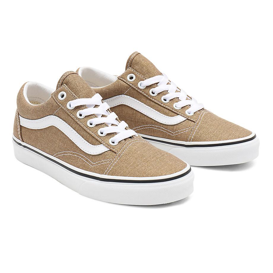 Vans  OLD SKOOL  women's Shoes (Trainers) in Brown - VN0A38G19EN1
