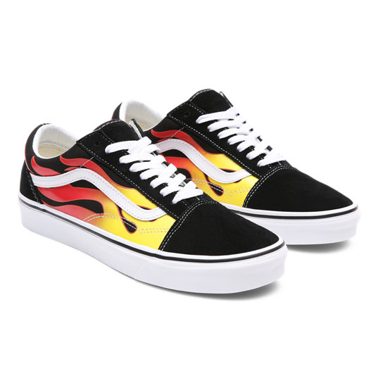 Flame Old Skool Shoes | Vans