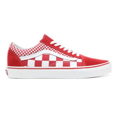 Chaussures Mix Checker Old Skool | Rouge | Vans