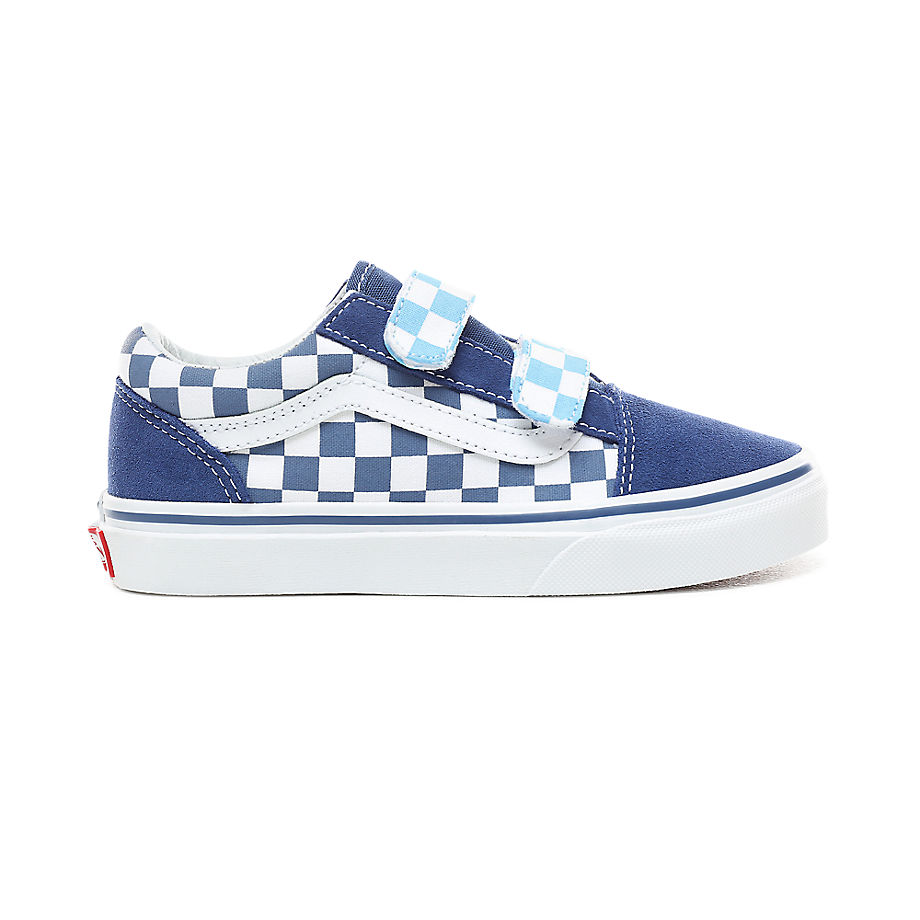 Sneaker Vans VANS Zapatillas De Niños Checkerboard Old Skool V (4-8 Años) ((checkerboard) True Navy/bonnie Blue) Niños Azul