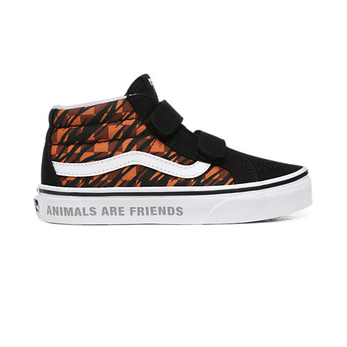 Kids+Animal+Checkerboard+Sk8-Mid+Reissue+V+Shoes+%284-8+years%29