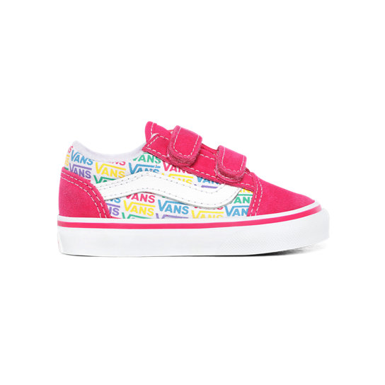 Chaussures Enfant Rainbow Vans Old Skool V (1-4 ans) | Rose | Vans