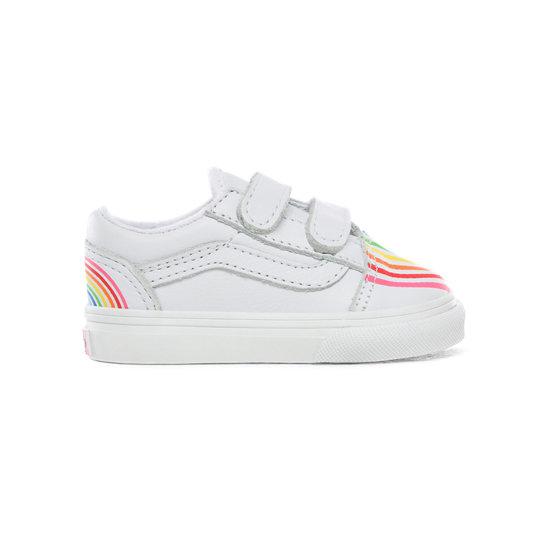 Chaussures Enfant Flour Shop Old Skool V (1-4 ans) | Blanc | Vans