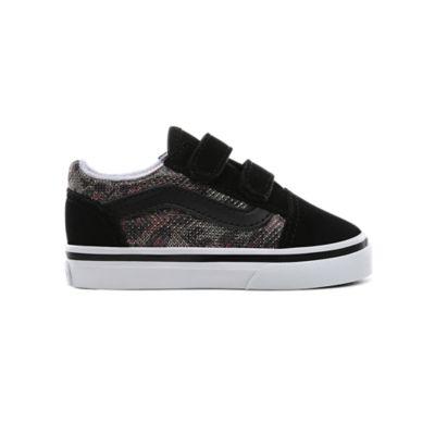 Chaussures Enfant Leopard Mesh Old Skool V (1-4 ans)   Noir   Vans