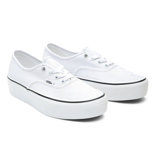 Tonal Check Authentic Platform 2.0 Shoes | Vans