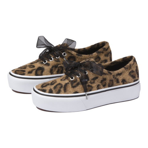 Zapatillas+Authentic+2.0+con+plataforma+y+estampado+Fuzzy